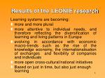results of the leonie research