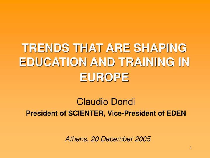 trends that are shaping education and training in europe n.