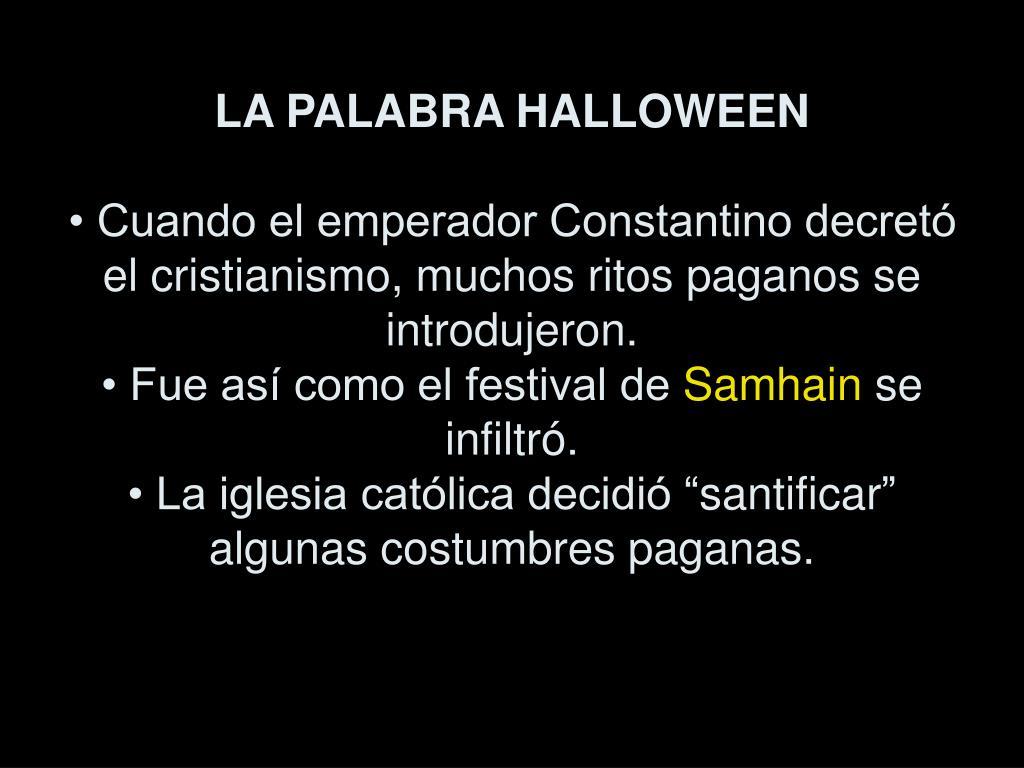 LA PALABRA HALLOWEEN