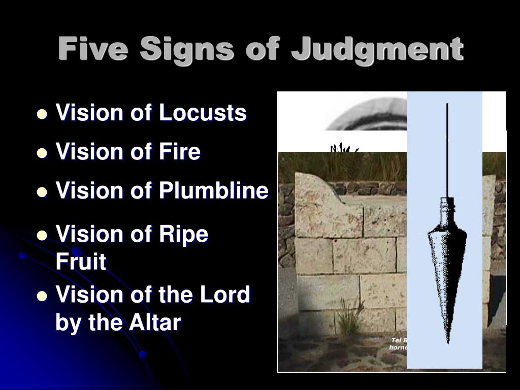 Five Signs of Judgment