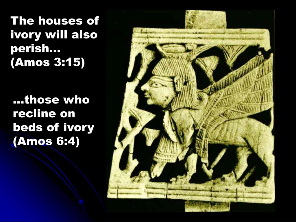 The houses of ivory will also perish... (Amos 3:15)