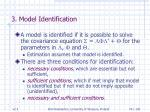 3 model identification74