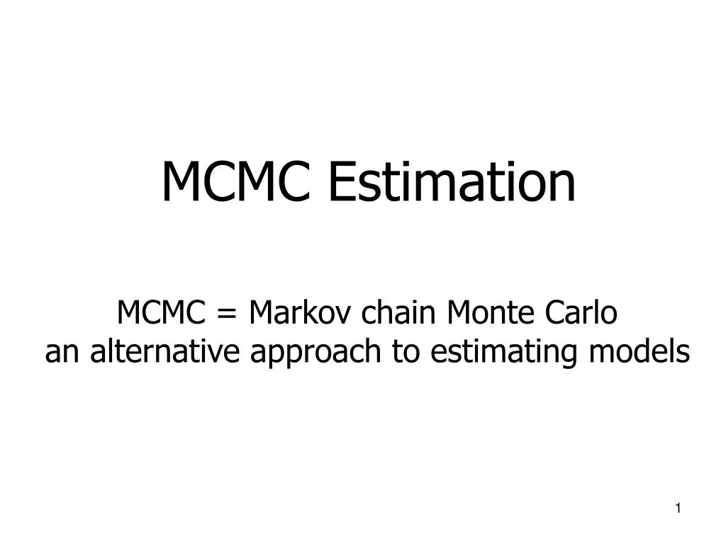 mcmc estimation l.