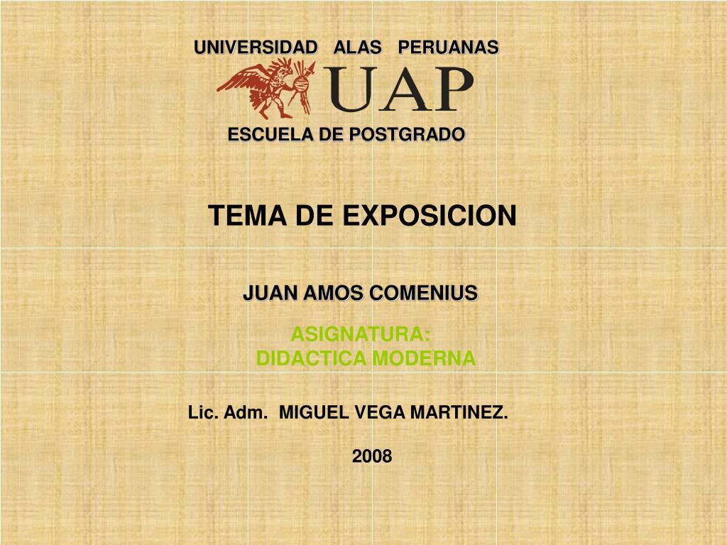 tema de exposicion juan amos comenius asignatura didactica moderna l.
