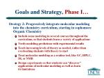 goals and strategy phase i10