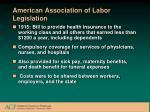 american association of labor legislation