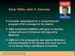 early 1960s john f kennedy