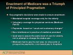 enactment of medicare was a triumph of principled pragmatism