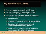 key points for level 1 pcmh