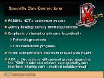 specialty care connections