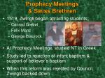 prophecy meetings swiss brethren