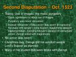 second disputation oct 1523