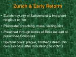 zurich early reform