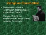 zwingli on church state