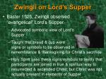 zwingli on lord s supper