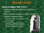 zwingli s death