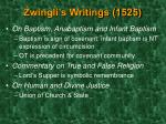 zwingli s writings 1525