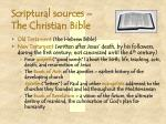 scriptural sources the christian bible