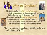 who are christians