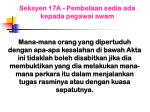 seksyen 17a pembelaan sedia ada kepada pegawai awam