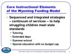 core instructional elements of the wyoming funding model6