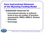 core instructional elements of the wyoming funding model7