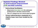 updated findings related to instructional improvement 319 non ale schools37