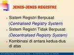jenis jenis registri