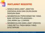 matlamat registri