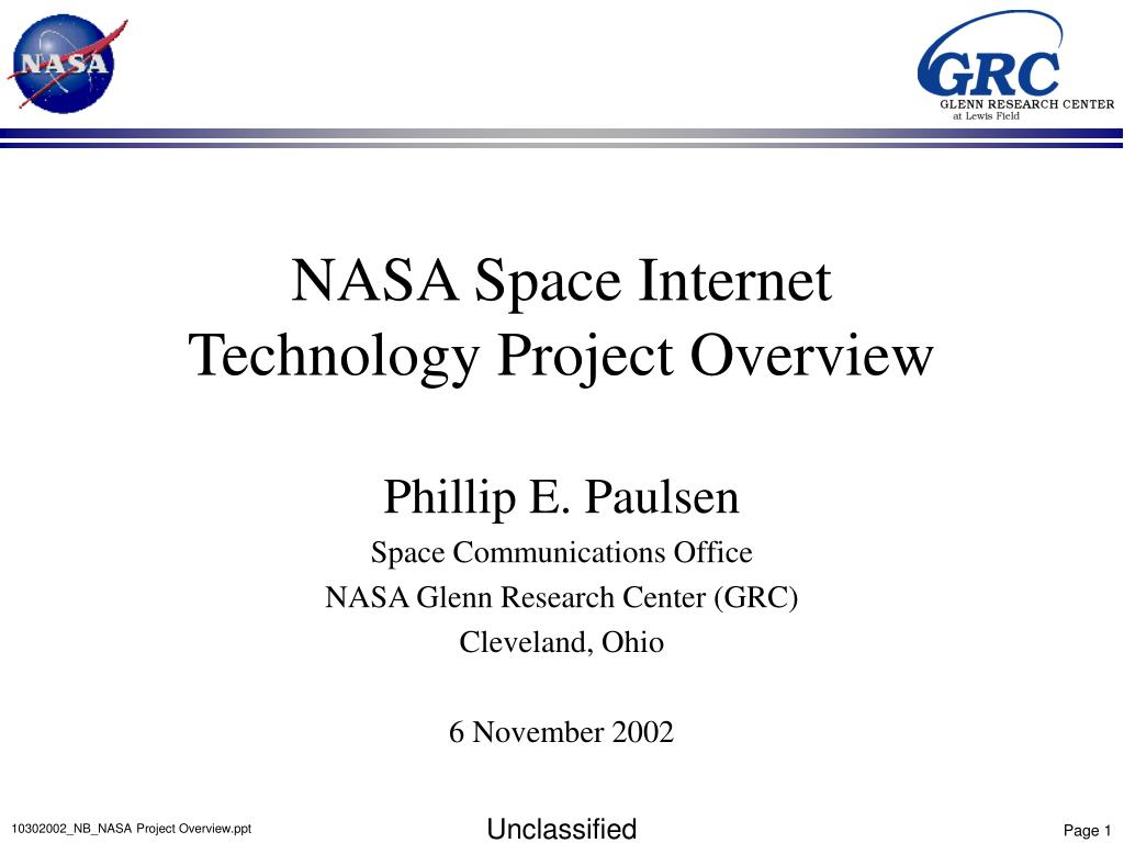 PPT - NASA Space Internet Technology Project Overview ...