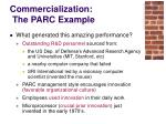 commercialization the parc example19