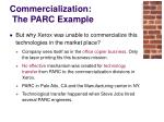 commercialization the parc example20
