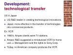 development technological transfer14