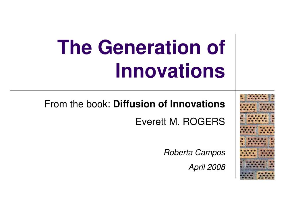 the generation of innovations l.