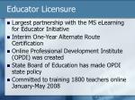 educator licensure