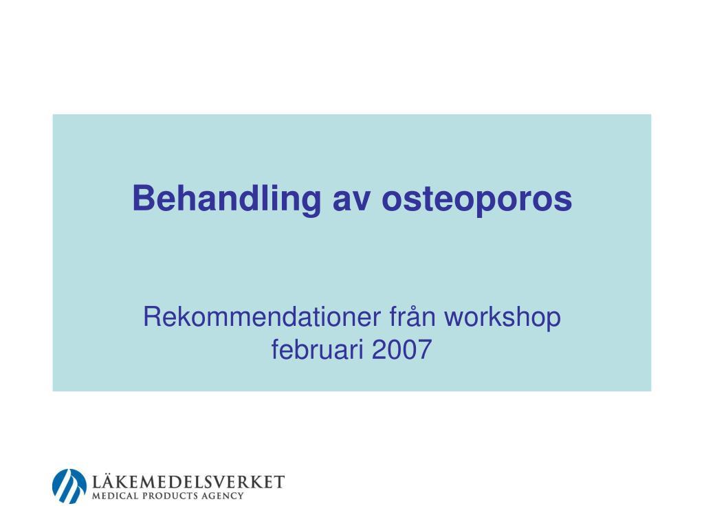behandling av osteoporos l.