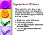 organizational efficiency12