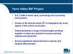 yarra valley bif project