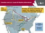 canadian and u s crude oil pipeline alternatives