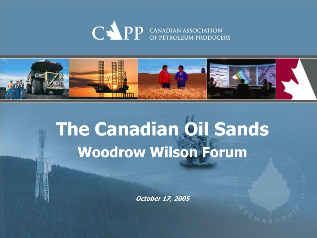 the canadian oil sands woodrow wilson forum l.