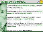 mobilearn is different