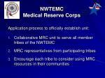 nwtemc medical reserve corps