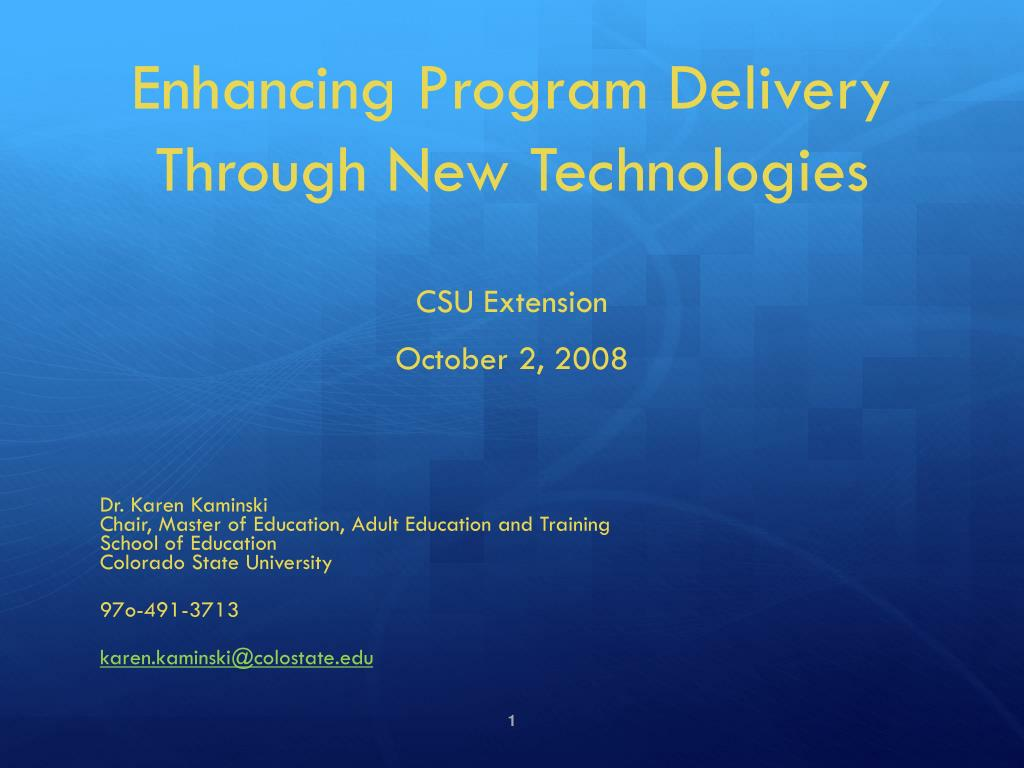 Enhancing Program Delivery
