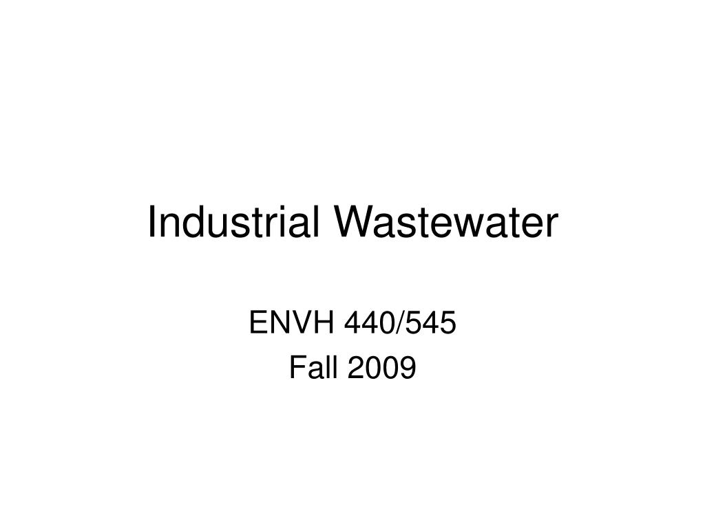 industrial wastewater l.