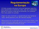 regulamenta o na europa19