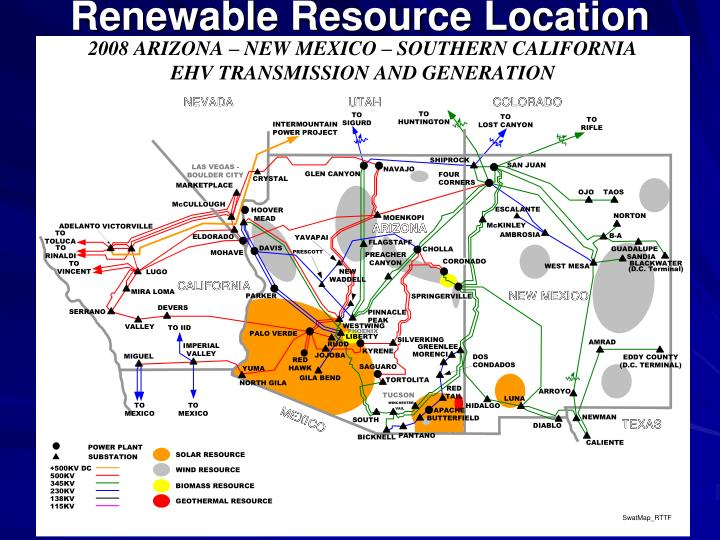 Renewable resource location