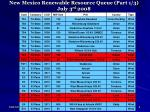 new mexico renewable resource queue part 1 3 july 3 rd 2008