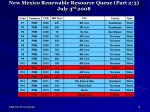 new mexico renewable resource queue part 2 3 july 3 rd 2008