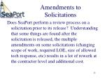 amendments to solicitations