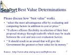best value determinations